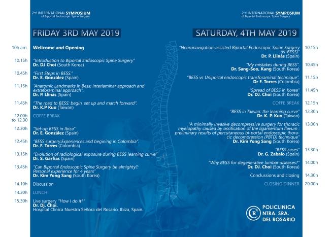 Díptico A4 Congreso de Neurocirugía reverso
